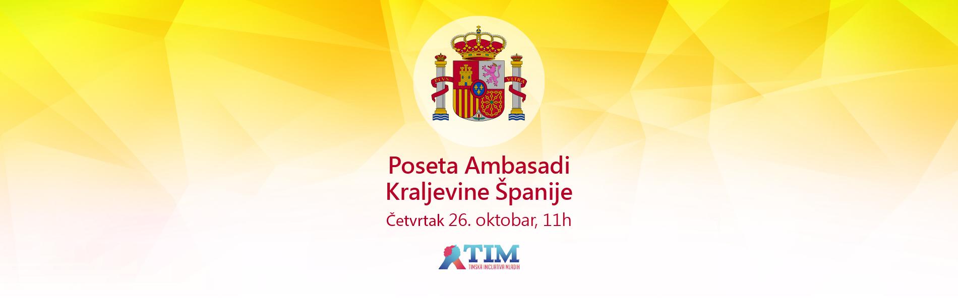 <p>Delegacija Timske inicijative mladih posetila je Ambasadu Španije. Tokom prijatnog razgovora, članovi su imali priliku da se upoznaju sa radom Ambasade, zvaničnim pogledima na bilateralne odnose sa Srbijom i aktuelna dešavanja u Španiji. Zahvaljujemo se predstavnicima Ambasade na toploj dobrodošlici [&hellip;]</p>